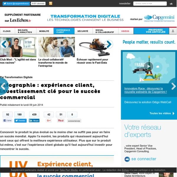 Infographie : expérience client, investissement clé pour le succès commercial - Expérience client