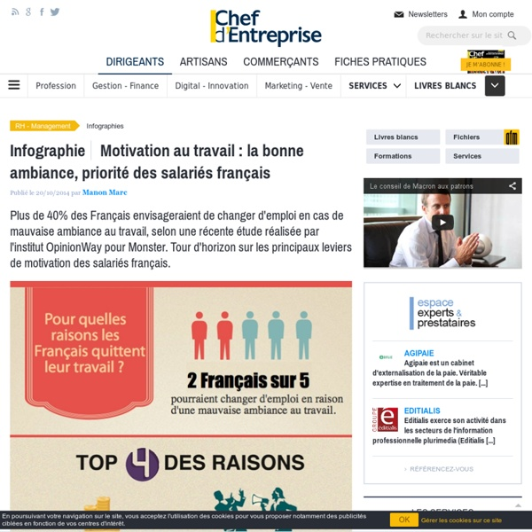 Motivation au travail : la bonne ambiance, priorité des salariés français