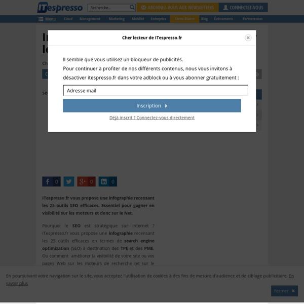 Infographie : 25 outils SEO efficaces pour les TPE - PME