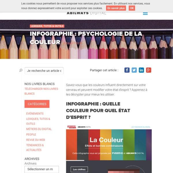 Infographie : psychologie de la couleur