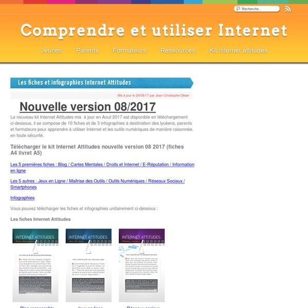 Les fiches et infographies Internet Attitudes - Comprendre et utiliser Internet