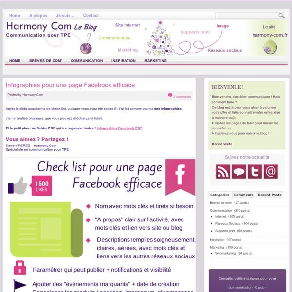 – Infographies pour une page Facebook efficace