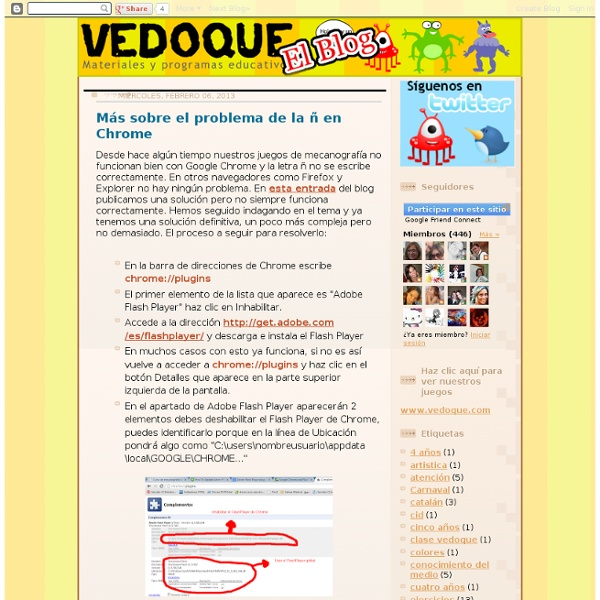 Vedoque. Informática Educativa. Juegos educativos gratis.