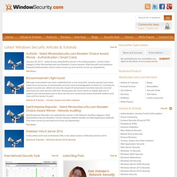 Network Security Articles for Windows Server 2003, 2008 & Vista