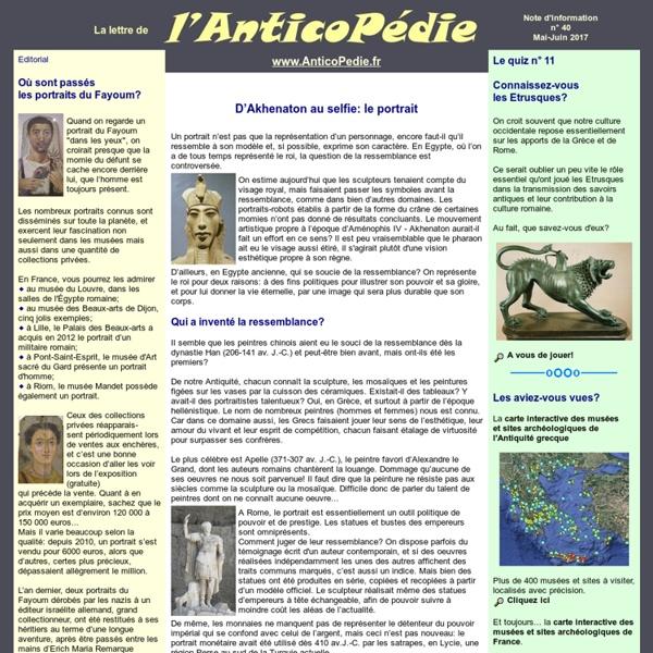 Note d'information n°20 de l'AnticoPedie, janvier 2014