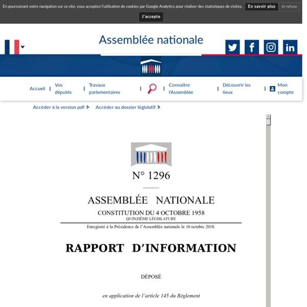 N°1296 - Rapport d'information de M. Bruno Studer déposé en application de l'article 145 du règlement, par la commission des affaires culturelles et de l'éducation, en conclusion des travaux d'une mission d'information sur l'école dans la société du numé