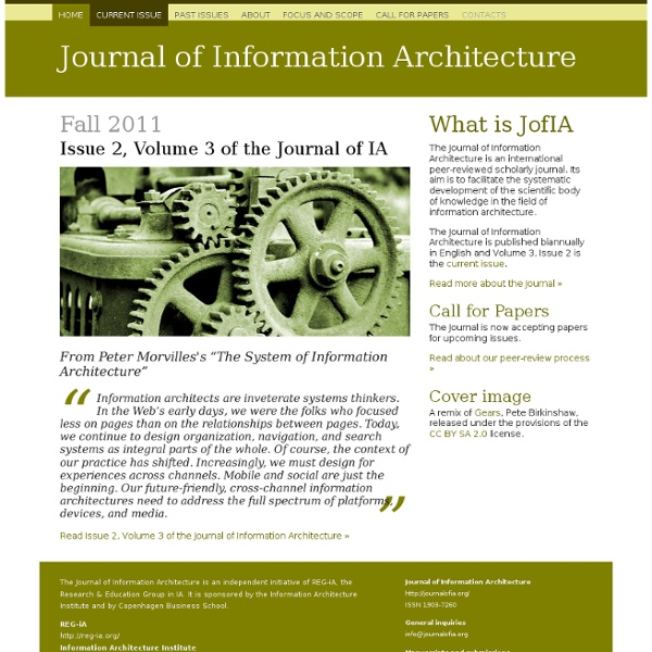 Journal of Information Architecture