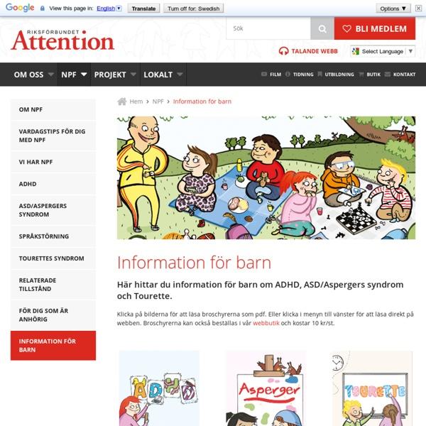 Information för barn - Riksförbundet Attention