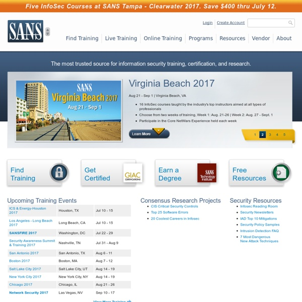 SANS Information Security Training