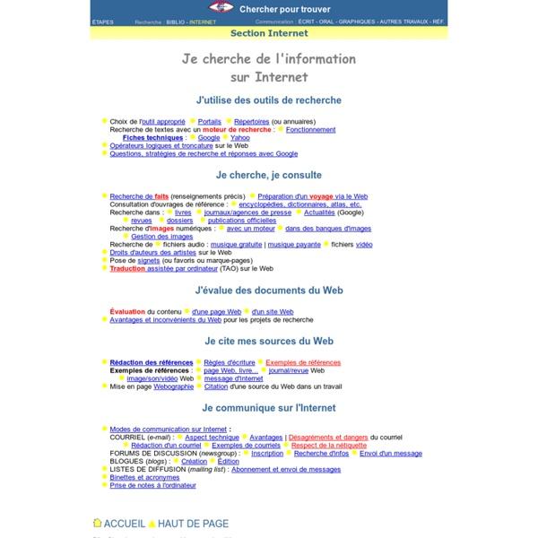 Recherche d'information et communication sur Internet