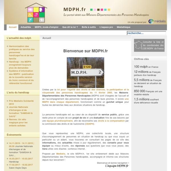 Portail d'information des maisons départementales des personnes handicapées MDPH