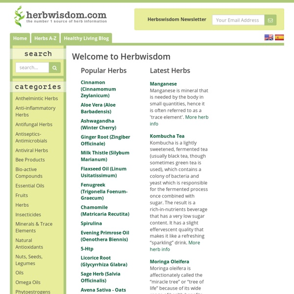 Herb Information, Benefits, Discussion and News