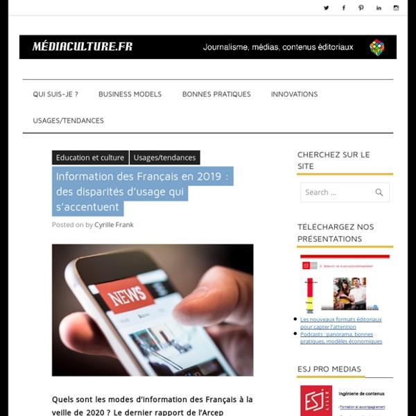 Information des Français en 2019 : des disparités d'usage qui s'accentuent