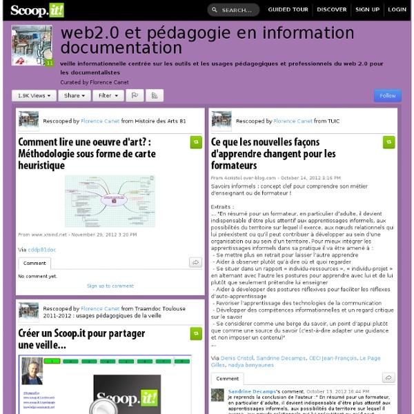 Web2.0 et pédagogie en information documentation