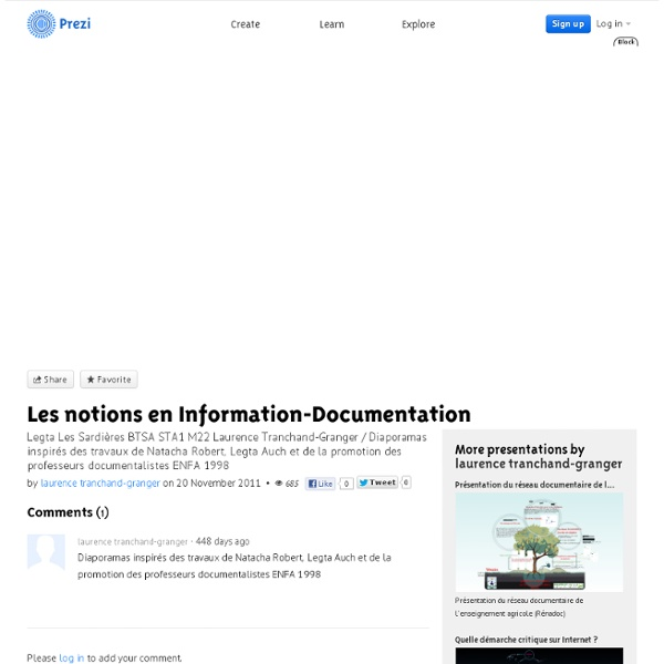 Les notions en Information-Documentation by laurence tranchand-granger on Prezi