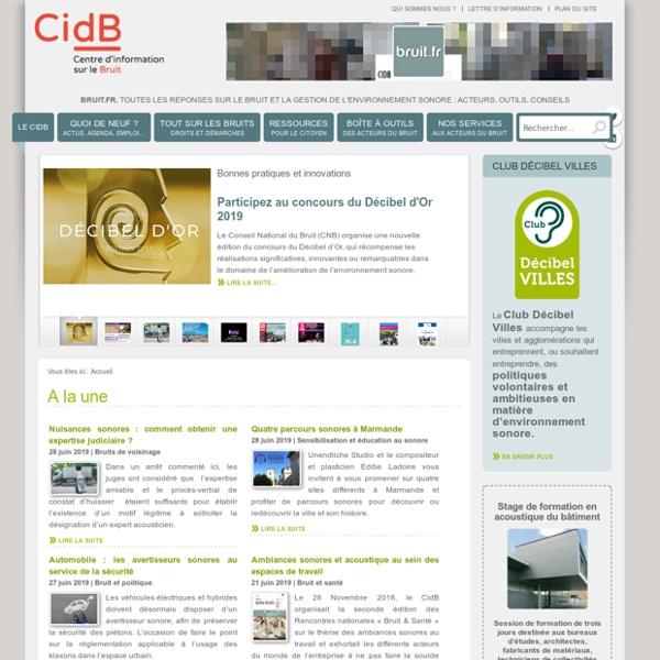 Centre d'information et de documentation sur le bruit