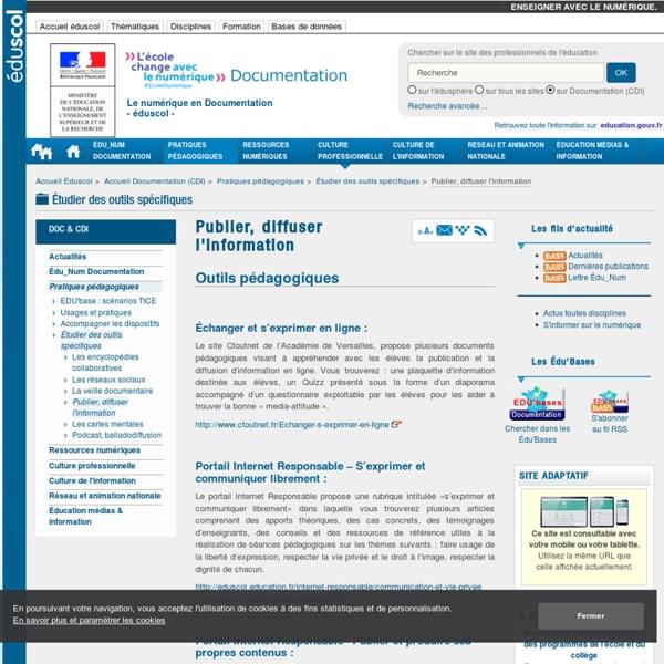 Publier, diffuser l'information