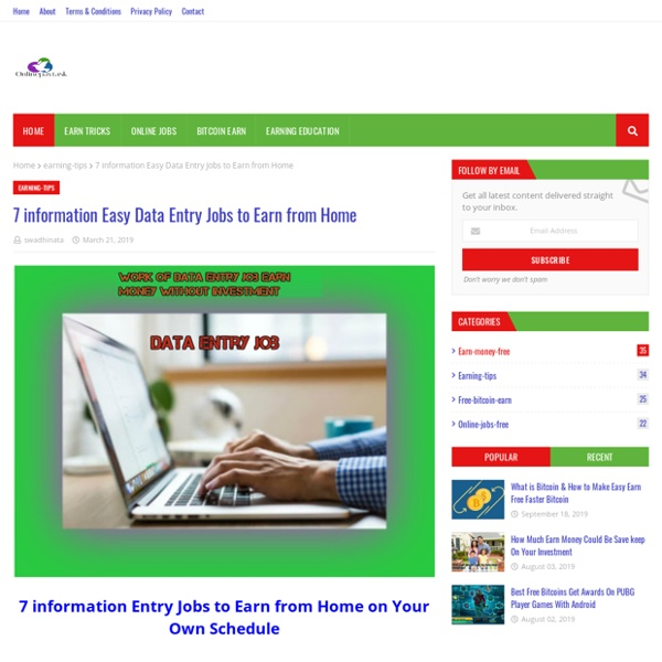 7 information Easy Data Entry Jobs to Earn from Home