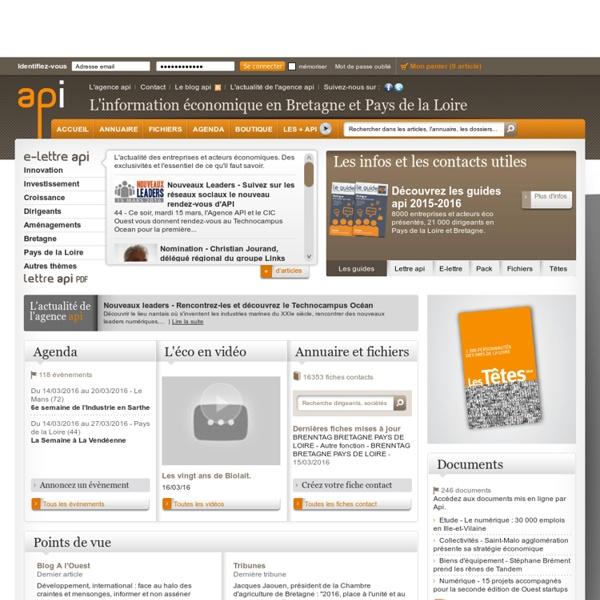 API - l'info éco à valeur ajoutée Pays de la Loire - Bretagne