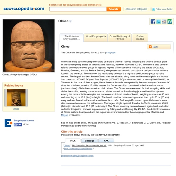 Olmec Facts, information, pictures