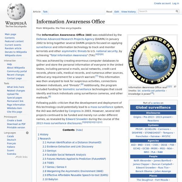 Information Awareness Office