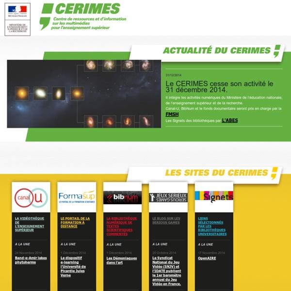 CERIMES - Centre de Ressources et d'Information sur les Multimédias pour l'Enseignement Supérieur