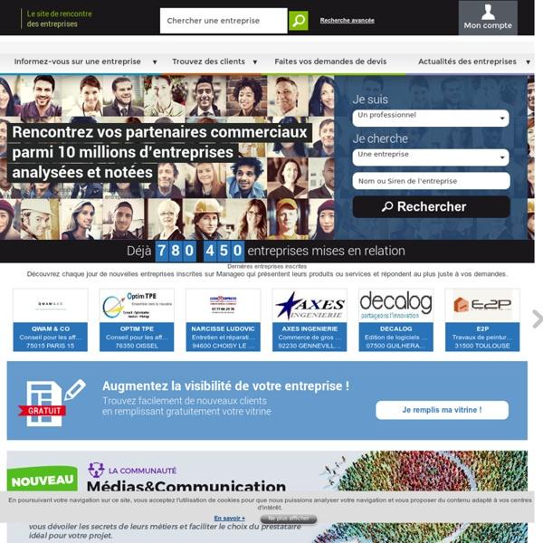 Manageo vous connecte à 10 millions d'entreprises analysées et notées
