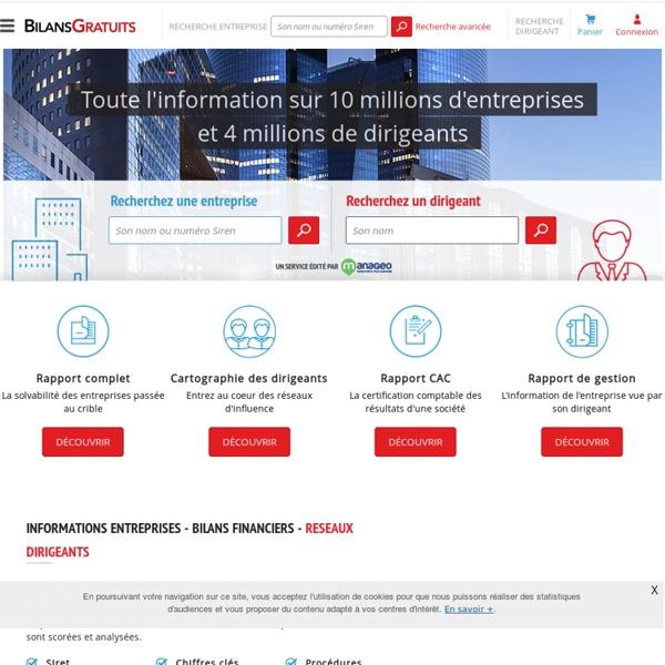 Bilans - Bilans Gratuits - Société - Entreprise-Registre du commerce