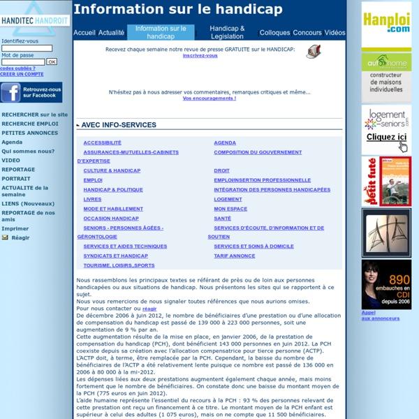 Le SITE DE LA PERSONNE HANDICAPEE - La REVUE DE PRESSE SPECIALISE DU HANDICAP