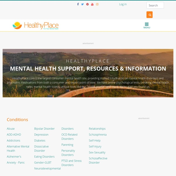 HealthyPlace.com - Trusted Mental Health Information and Support - HealthyPlace