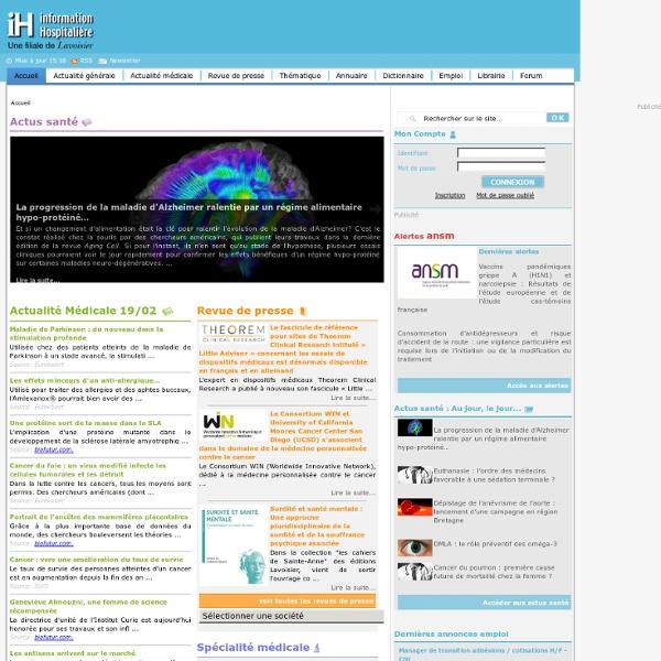 Information Hospitalière - L'actualité médicale et hospitalière en ligne...