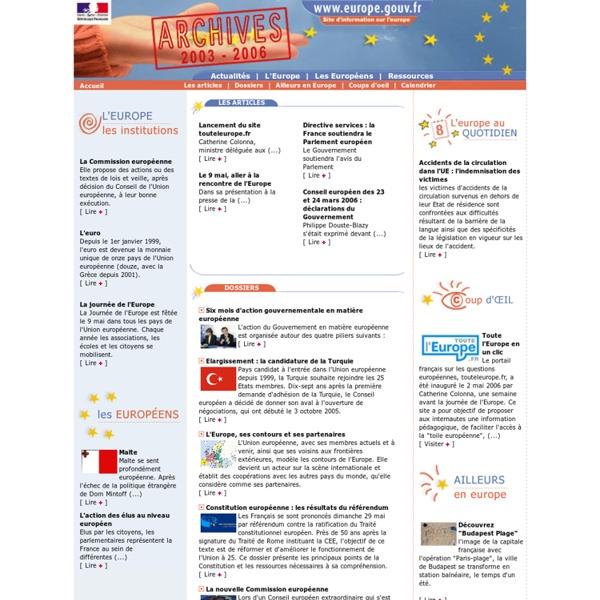 Europe.gouv.fr, site d'information sur l'Europe et les institutions européennes