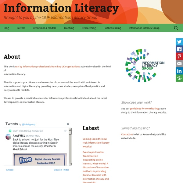 Brought to you by the CILIP Information Literacy Group