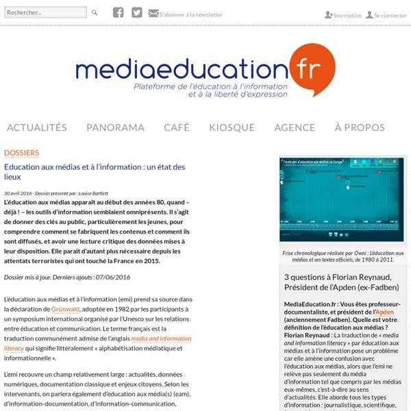 Education aux médias et à l'information : un état des lieux - mediaeducation.fr