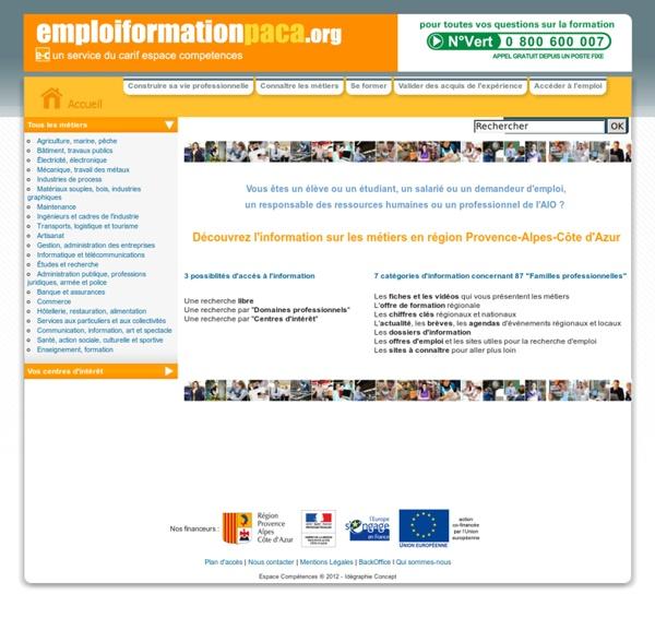 Le site d'information sur les métiers, la formation et l'emploi