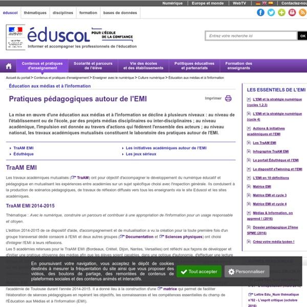 Éducation aux médias et à l'information - Pratiques pédagogiques autour de l'EMI
