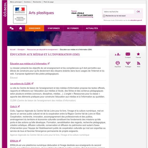 Éducation aux médias et à l'information (EMI)-Arts plastiques-Éduscol