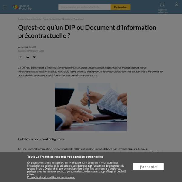 Qu'est-ce qu'un DIP ou Document d'information précontractuelle ?