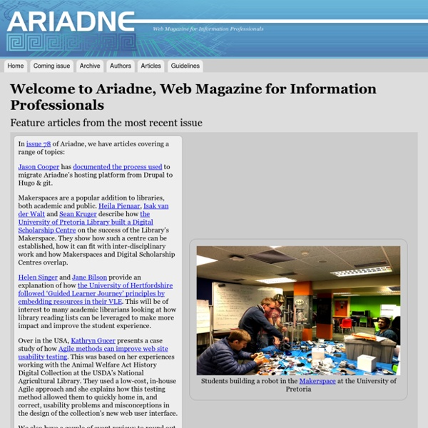 Web Magazine for Information Professionals