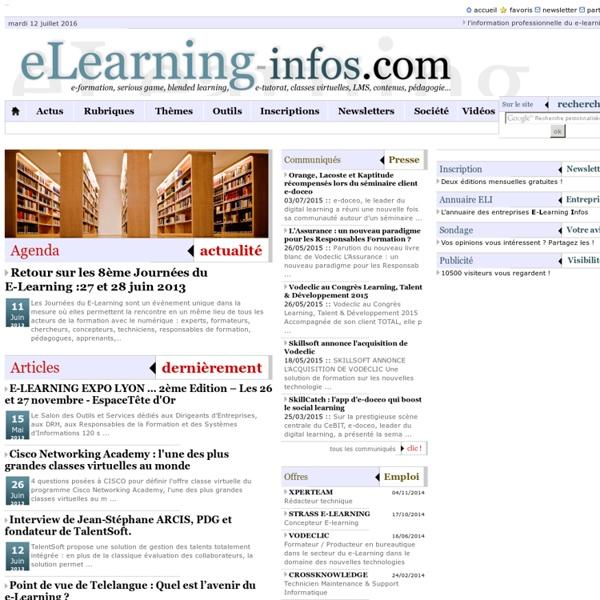 Toute l'information professionnelle dédiée à l'e-learning et la formation en ligne