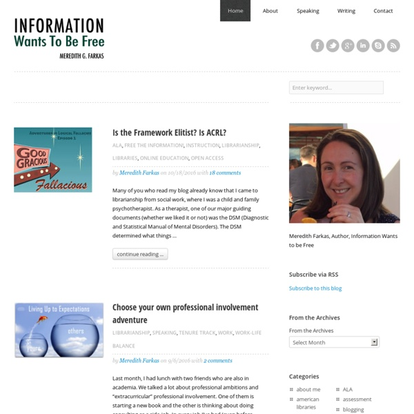 Information Wants To Be Free - Meredith Farkas