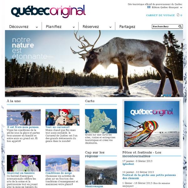 Bonjour Québec.com : information touristique et réservations pour vos vacances au Québec!