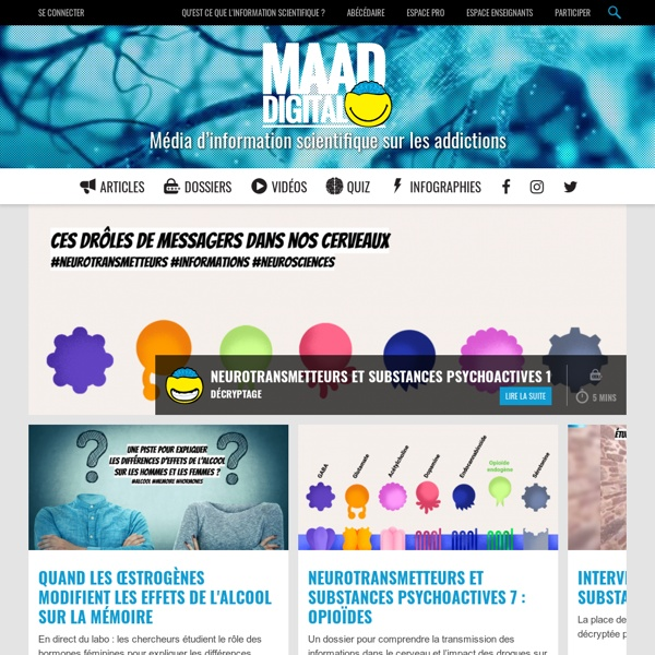 Média d'information scientifique sur les addictions