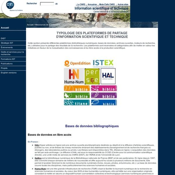 Direction de l'information scientifique et technique (DIST)