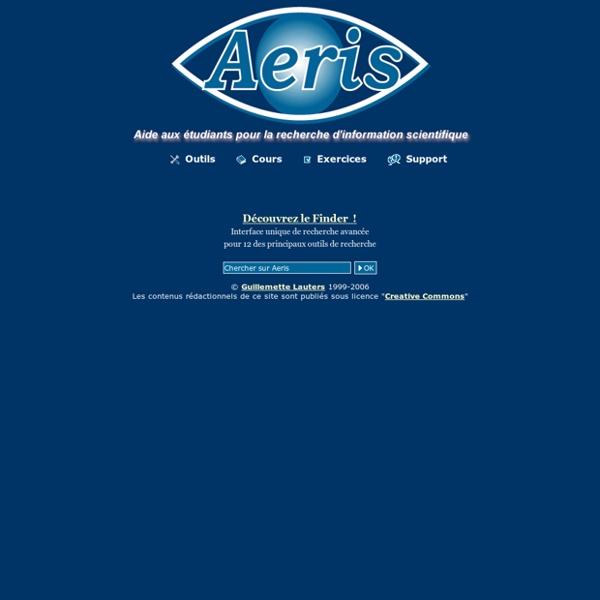 AERIS - Aide aux étudiants pour la recherche d'information scientifique