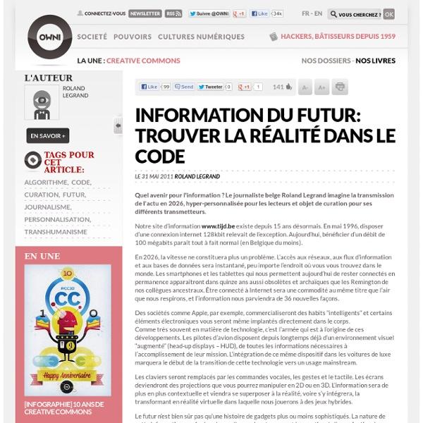 Information du futur: trouver la réalité dans le code