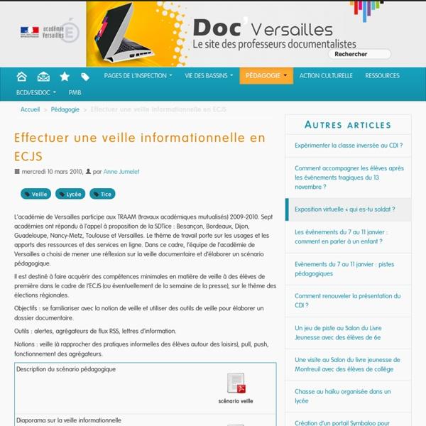 Effectuer une veille informationnelle en ECJS