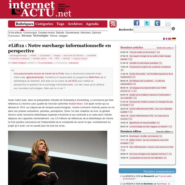 #Lift12 : Notre surcharge informationnelle en perspective