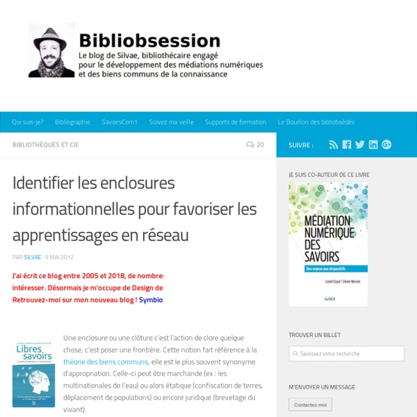 Identifier les enclosures informationnelles pour favoriser les apprentissages en réseau