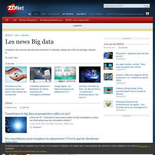 Big data, informations sur les acteurs de la big data - ZDNet